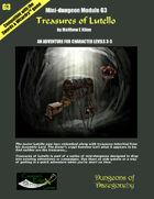 Treasures of Lutello- A Swords & Wizardry Mini-Dungeon