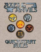 Axes and Anvils Quickstart Rules