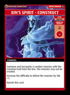 Xin's Spirit - Construct - Custom Card