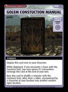 Golem Constuction Manual - Custom Card