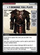 + 1 Demonic Full Plate - Custom Card
