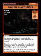 Abyssal Giant Spider - Custom Card