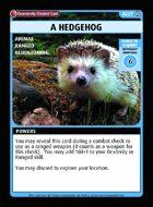 A Hedgehog - Custom Card