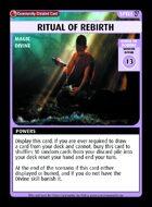 Ritual Of Rebirth - Custom Card