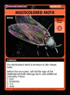 Multicolored Moth - Custom Card
