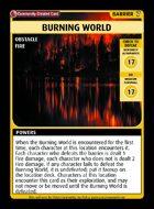 Burning World - Custom Card