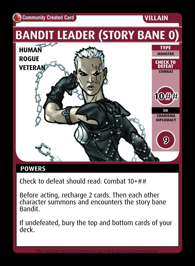 Bandit Leader (story Bane 0) - Custom Card