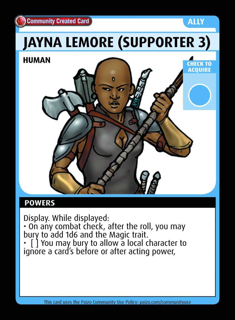 Jayna Lemore (supporter 3) - Custom Card