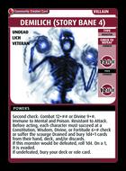Demilich (story Bane 4) - Custom Card