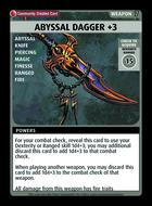 Abyssal Dagger +3 - Custom Card