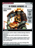 O-yoroi Armor +3 - Custom Card