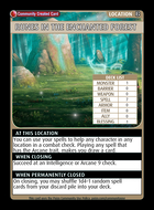 Runes In The Enchanted Forest         - Custom Card