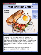 """""""the Morning After"""" - Custom Card"""