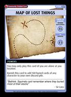 Map Of Lost Things - Custom Card