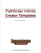 Pathfinder Infinite Creator Resource - Adventure Templates