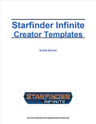 Starfinder Infinite Creator Resource - Adventure Template