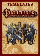 Pathfinder Adventure Card Game Card Templates