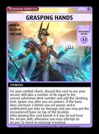 Grasping Hands - Custom Card