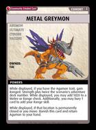 Metal Greymon - Custom Card