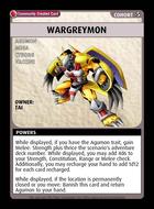 Wargreymon - Custom Card