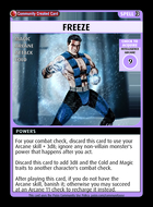Freeze - Custom Card