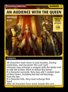 An Audience With The Queen - Custom Card