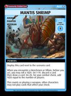 Mantis Shrimp - Custom Card