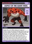 Aspect Of The Giant Frog - Custom Card