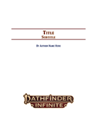 Pathfinder 2e Adventure Template for Affinity Publisher