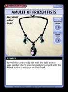 Amulet Of Frozen Fists - Custom Card