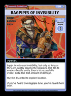 Bagpipes Of Invisibility  - Custom Card