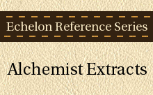 Echelon Reference Series: Alchemist Extracts