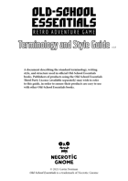Old-School Essentials Terminology and Style Guide