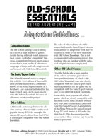 Old-School Essentials Adaptation Guidelines