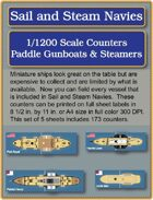 S&SN Counters - Paddle Gunboats & Steamers
