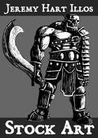 Orc Warrior 3 Stock Art