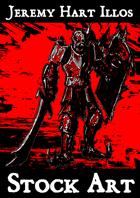 TRAPPER KEEPER STOCK ART Chaos Knight 1