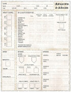 Dungeons & Delvers Character Sheet