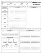 Dungeons & Delvers Dice Pool Character Sheet