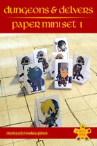 Dungeons & Delvers: Paper Minis