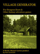 Village Generator for Dungeon Scum and other games
