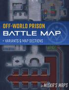 Off-World Prison - Sci-Fi Battle Map