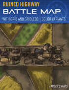 Ruined Highway - Post-Apocalyptic Battle Map