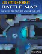 Udo Station Market - Sci-Fi Bazaar Battle Map