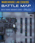 Warehouse Lab - Battle map (30x30)
