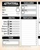 Astraterra Character Sheet