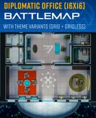 Diplomatic Office- Sci-fi/Cyberpunk Battle Map (16x16)