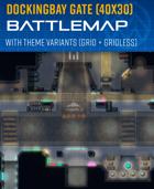 Docking Bay Gate - Sci-fi Battle Map (40x30)