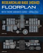 Research Laboratory Base - Sci-fi Floorplan (40x40)