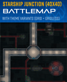 Spaceship Junction - Sci-fi Battle Map (40x40)